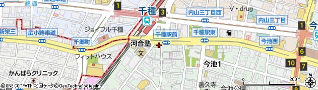 にぎりたて千種駅前店周辺の地図