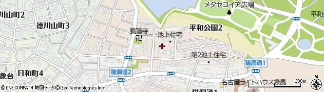 愛知県名古屋市千種区池上町周辺の地図