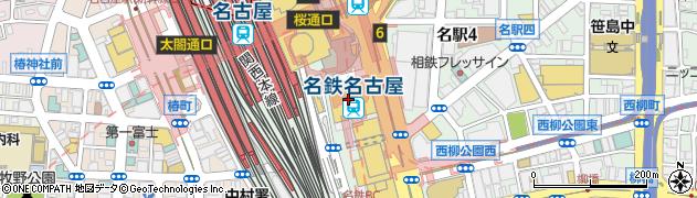株式会社名鉄百貨店 本館レストラン・カフェキハチカフェ周辺の地図