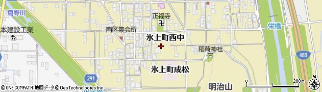 兵庫県丹波市氷上町西中周辺の地図