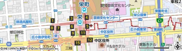 愛知県名古屋市東区久屋町周辺の地図