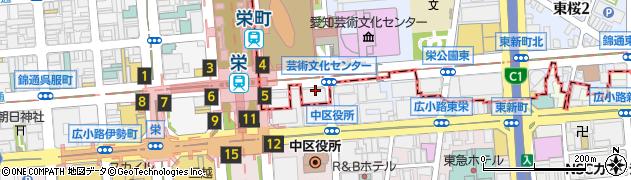 愛知県名古屋市東区武平町周辺の地図