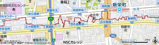 愛知県名古屋市中区東桜周辺の地図