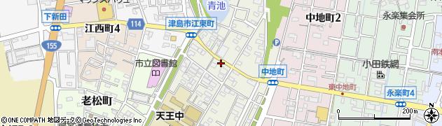 愛知県津島市宮川町周辺の地図