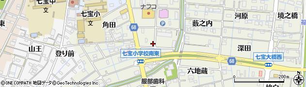 愛知県あま市七宝町桂(城之堀)周辺の地図