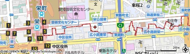 愛知県名古屋市東区西新町周辺の地図