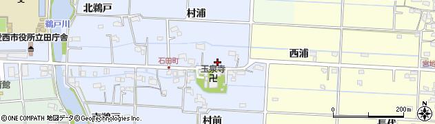 愛知県愛西市石田町(村浦)周辺の地図