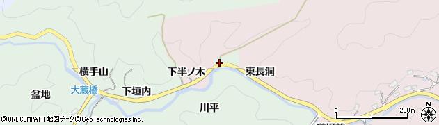 愛知県豊田市大蔵町(砂田)周辺の地図