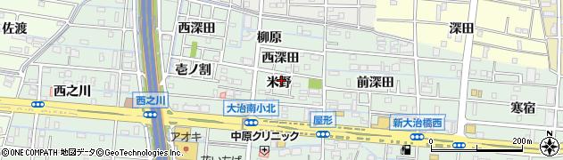 愛知県大治町(海部郡)三本木(米野)周辺の地図