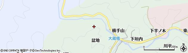 愛知県豊田市大蔵町(盆地)周辺の地図