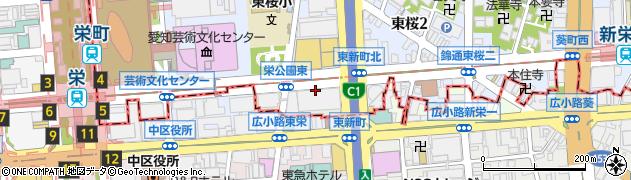 愛知県名古屋市東区東新町周辺の地図
