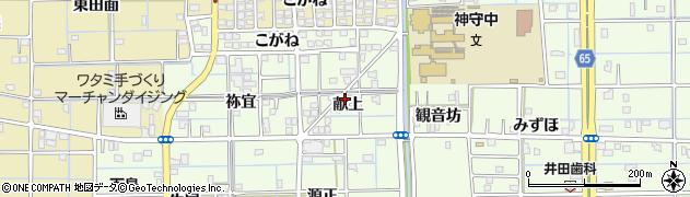 愛知県津島市百島町(献上)周辺の地図