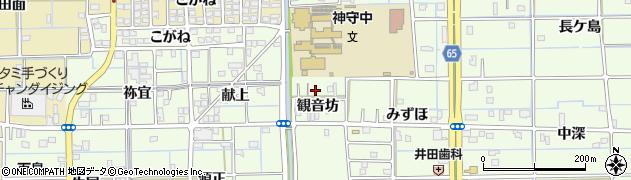愛知県津島市百島町(観音坊)周辺の地図