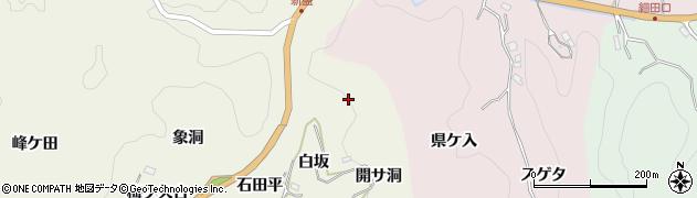 愛知県豊田市新盛町(白坂)周辺の地図