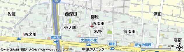 愛知県大治町(海部郡)三本木(柳原)周辺の地図