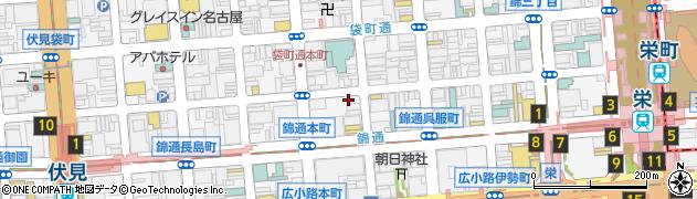 株式会社えびすや本店 栄店周辺の地図