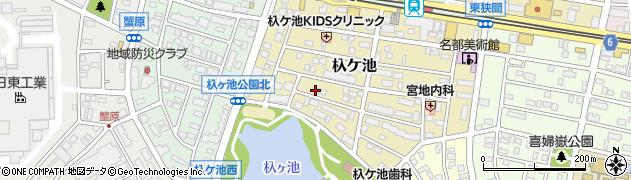 愛知県長久手市杁ケ池周辺の地図
