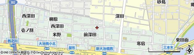 愛知県大治町(海部郡)三本木(前深田)周辺の地図