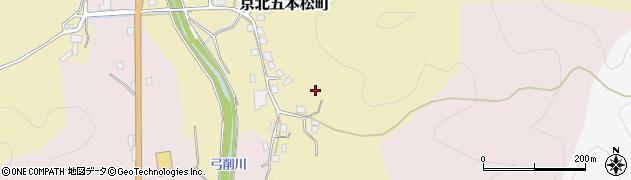 京都府京都市右京区京北五本松町周辺の地図