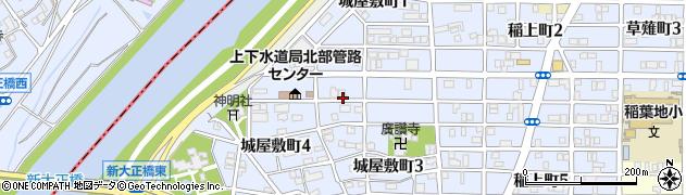 愛知県名古屋市中村区城屋敷町周辺の地図