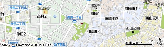 愛知県名古屋市千種区向陽周辺の地図
