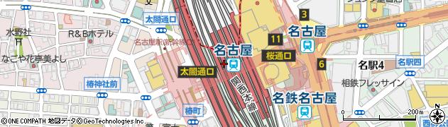 愛知県名古屋市中村区周辺の地図