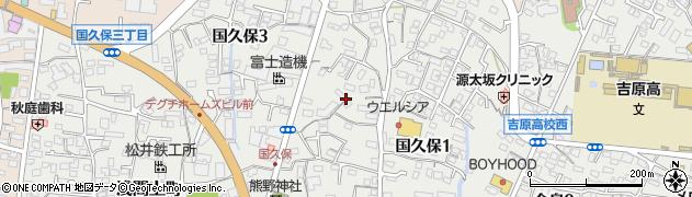 静岡県富士市国久保周辺の地図