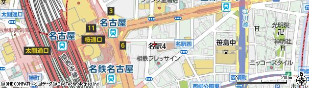 眺座名駅店周辺の地図