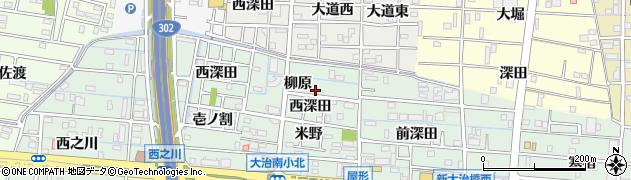 愛知県大治町(海部郡)三本木周辺の地図