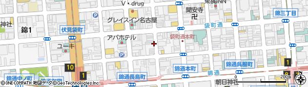 愛知県名古屋市中区錦周辺の地図