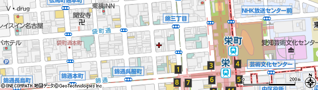 鳥銀本店錦三丁目周辺の地図