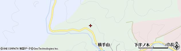 愛知県豊田市大蔵町(横手山)周辺の地図