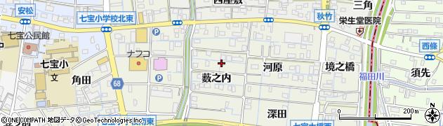 愛知県あま市七宝町桂(薮之内)周辺の地図