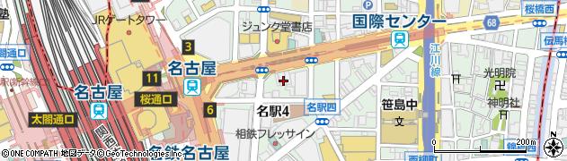愛知県名古屋市中村区名駅周辺の地図