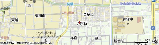 愛知県津島市百島町(こがね)周辺の地図