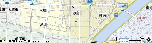 愛知県大治町(海部郡)東條(砂島)周辺の地図