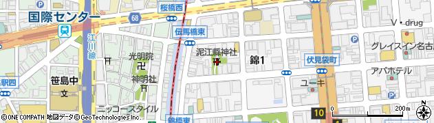 泥江県神社周辺の地図