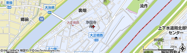 愛知県大治町(海部郡)八ツ屋(郷内)周辺の地図