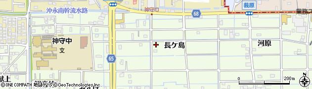 愛知県津島市莪原町周辺の地図