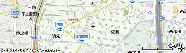 愛知県大治町(海部郡)西條(大門先)周辺の地図