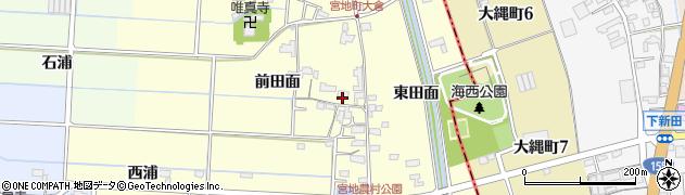 愛知県愛西市宮地町(屋敷附)周辺の地図