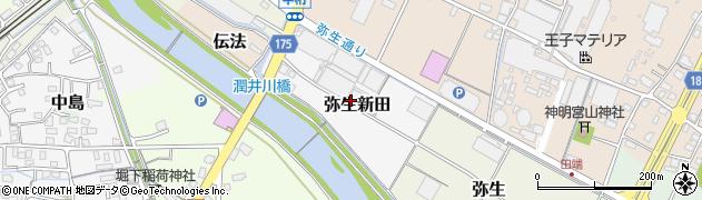 静岡県富士市弥生新田周辺の地図