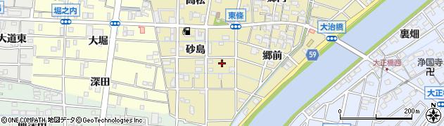 愛知県大治町(海部郡)東條周辺の地図
