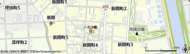愛知県津島市新開町周辺の地図