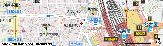 カレーハウスCoCo壱番屋 名古屋駅西口店周辺の地図