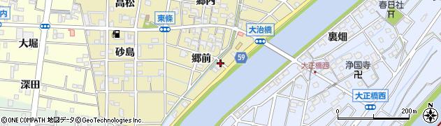 愛知県大治町(海部郡)東條(郷前)周辺の地図