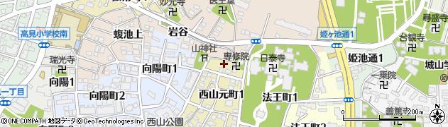 長坂周辺の地図