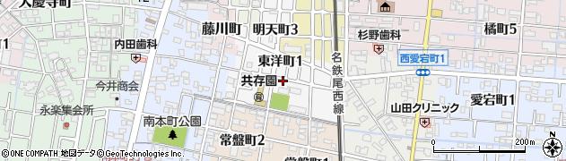 愛知県津島市東洋町周辺の地図