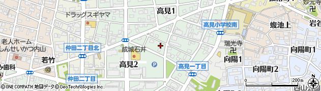 愛知県名古屋市千種区高見周辺の地図