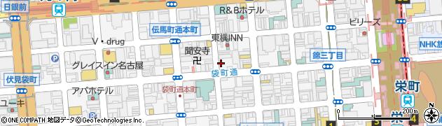 愛知県名古屋市中区錦3丁目周辺の地図